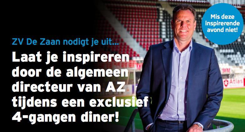 Uitnodiging: ZV De Zaan INSPIRATIE diner – 14 november
