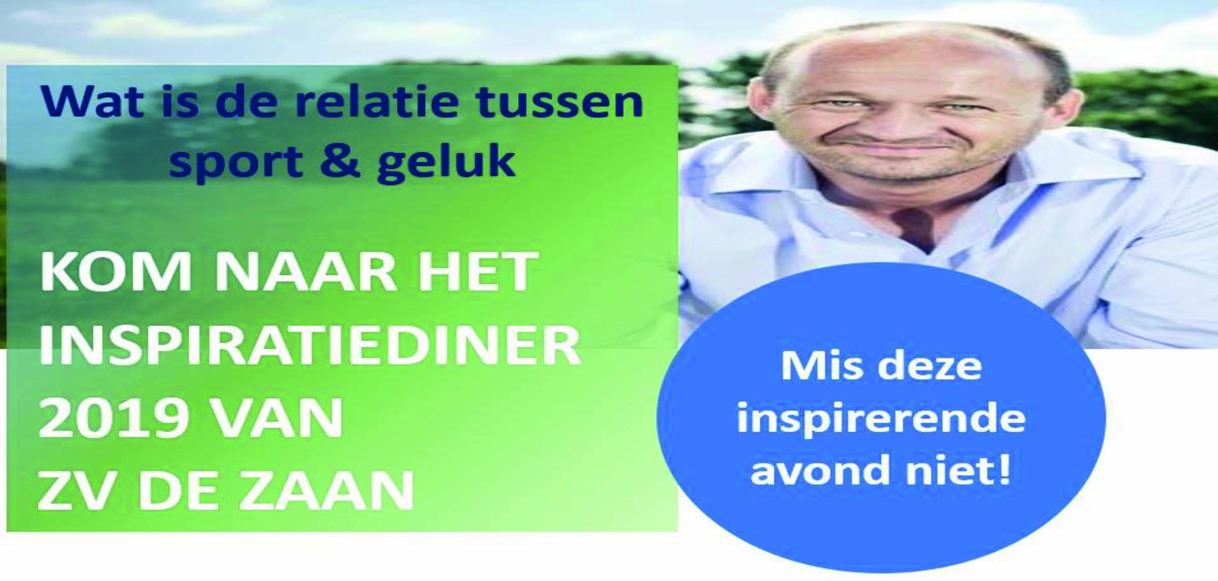 ZV De Zaan organiseert INSPIRATIEdiner